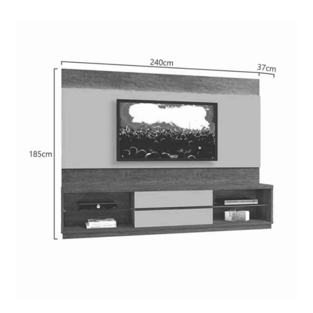 Home Estante TV até 65 Polegadas Istambul Mavaular sem Espelho Mel/Off White