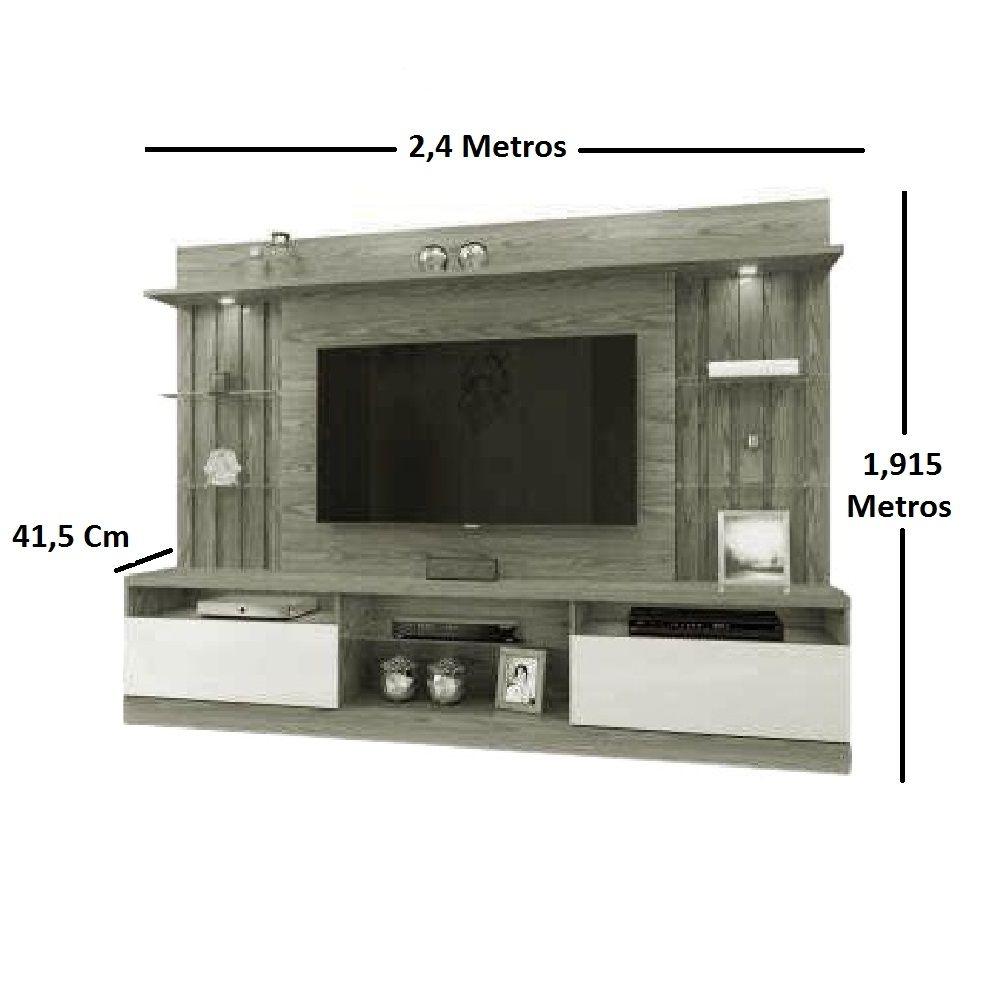 Home Estante Tv até 58 Polegadas Amsterdã Mavaular Mel/Off White