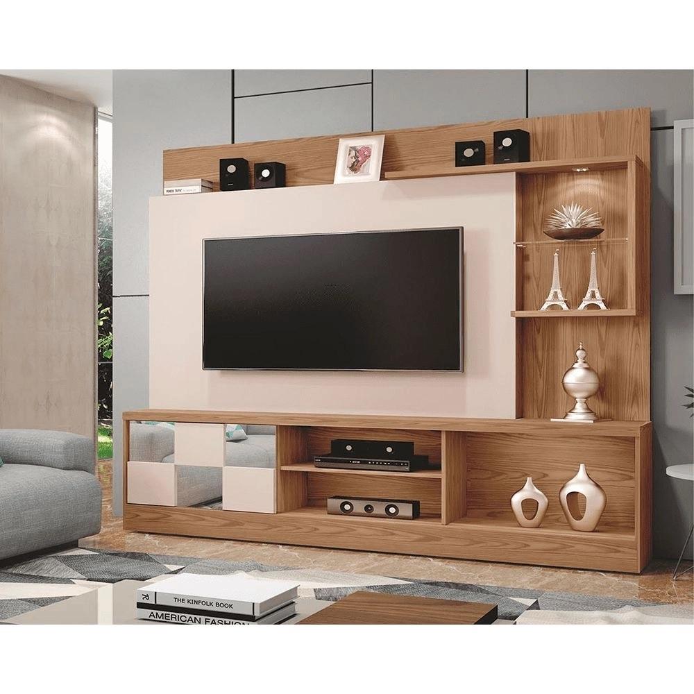 Home Estante TV até 65 Polegadas Dinamarca Mavaular Damasco Soft/Off White