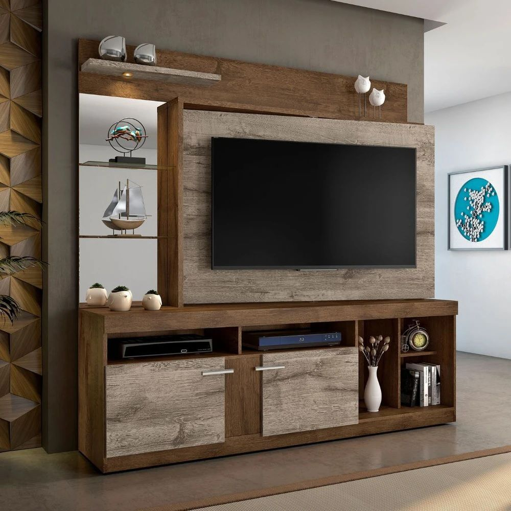Home para TV até 55 Polegadas Brasil JCM Móveis Nobre Soft/Off White