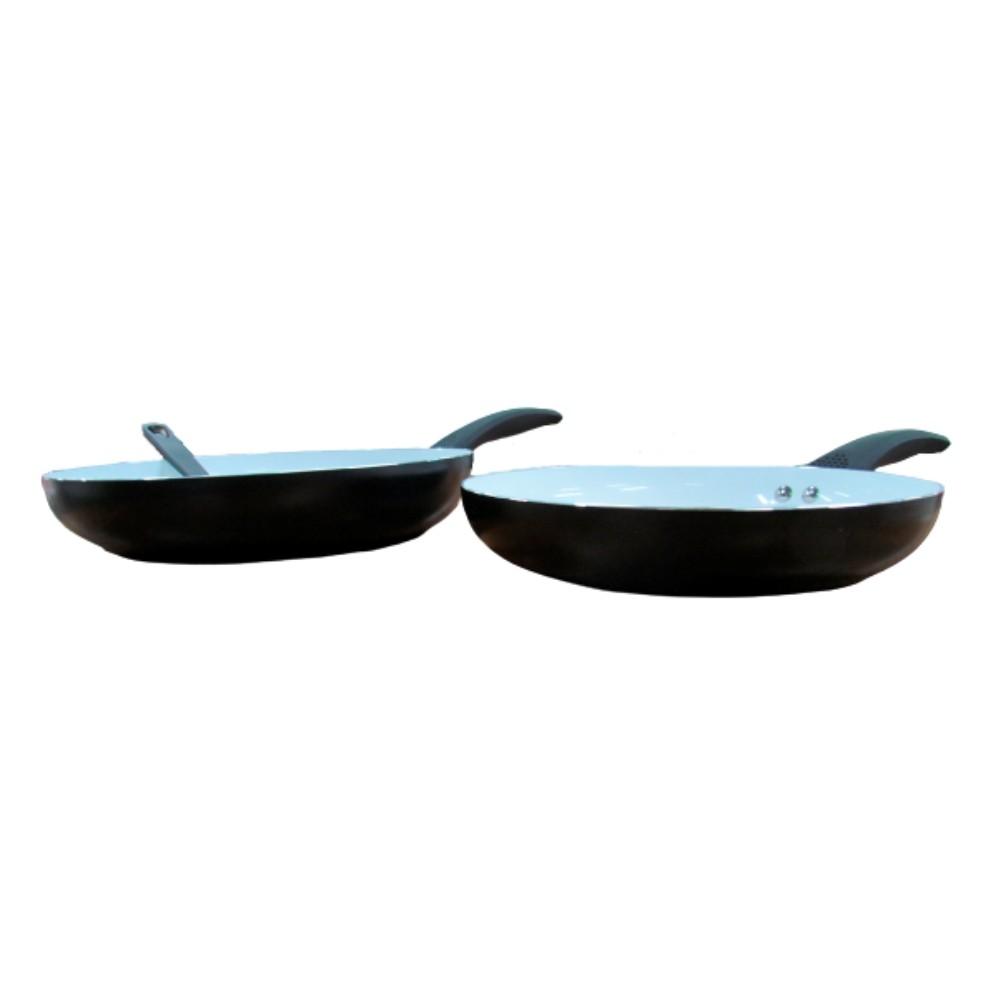 Kit 2 Frigideira Antiaderente Cerâmica Fratelli + Espátula em Nylon