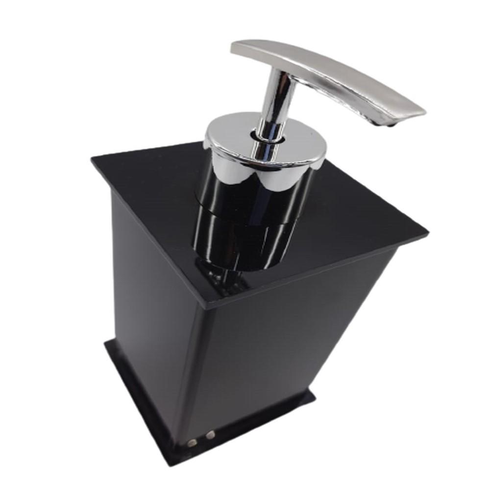 Kit Banheiro 4 Peças Acrílico Preto