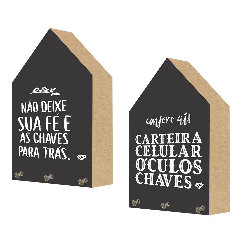 Kit com 2 Porta Chaves Decorativos Toten