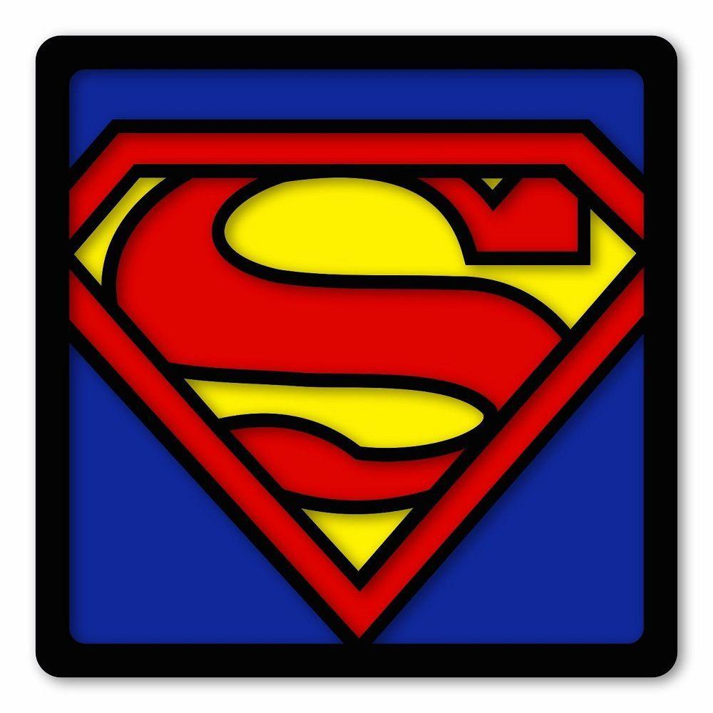 Kit com 3 Quadros Decorativos Super-Heróis