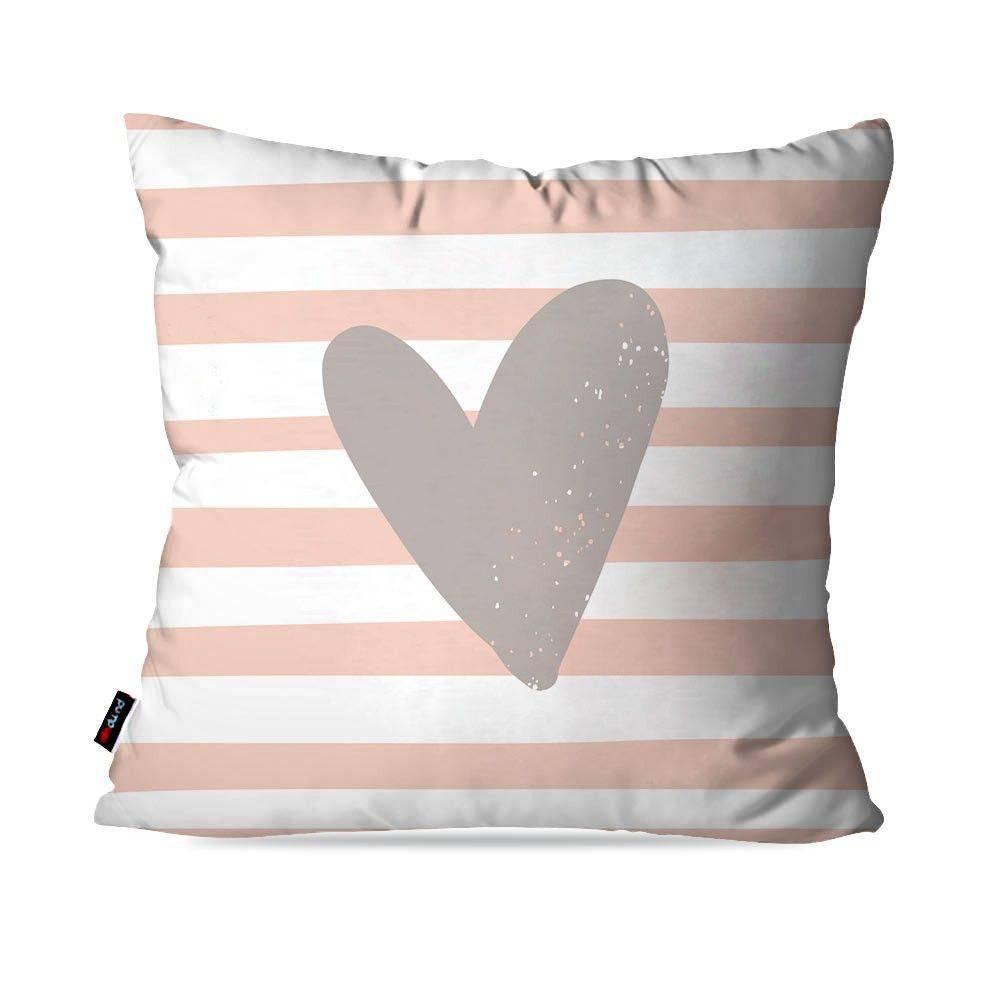 Kit com 4 Almofadas Decorativas Rosa Flamingos Love Girl