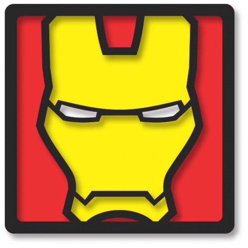 Kit com 4 Quadros Decorativos Super-Heróis