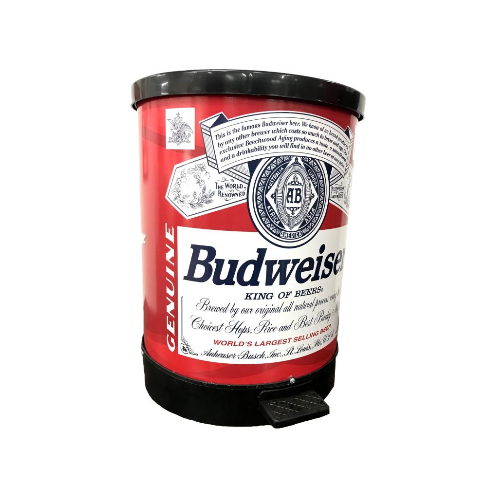 Lixeira com Pedal Redonda Budweiser 30 Litros