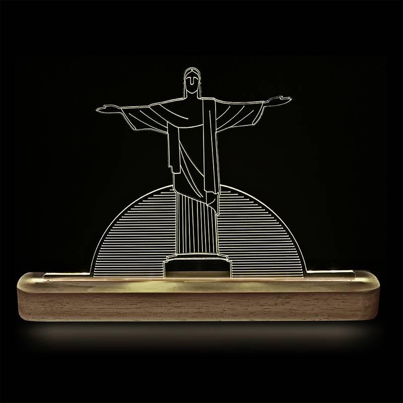 Luminária Decorativa Cristo Redentor
