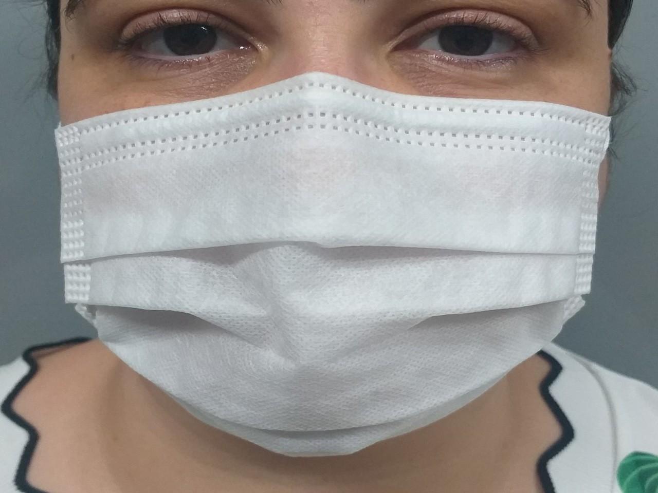 Máscara Descartável Cirúrgica TNT Triplo com 50 Unidades