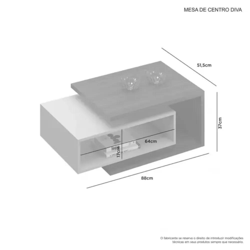 Mesa de Centro Diva JCM Movelaria