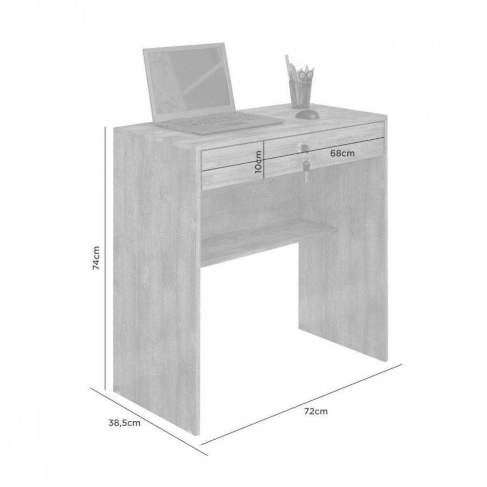 Mesa Escrivaninha Andorinha JCM Móveis Cacau