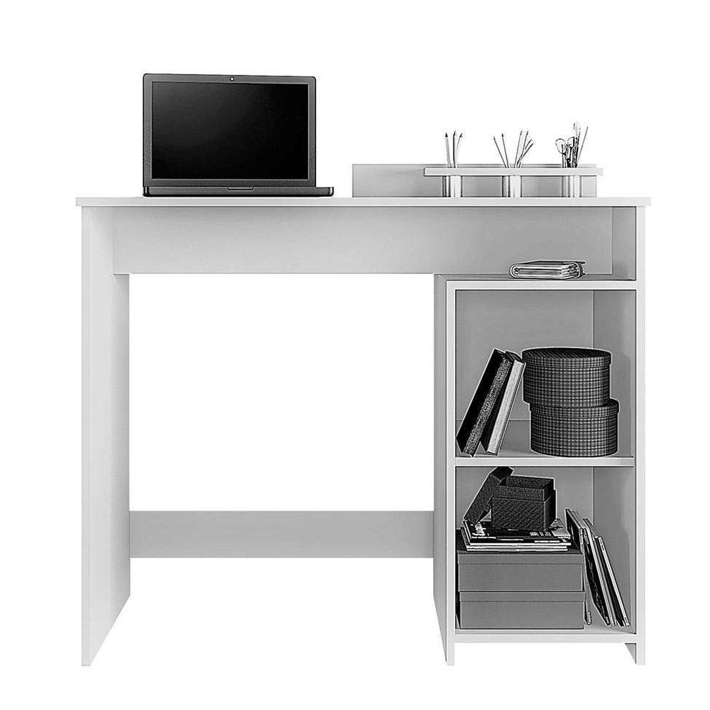 Mesa Escrivaninha Ciranda JCM Móveis Branco/Tiffany