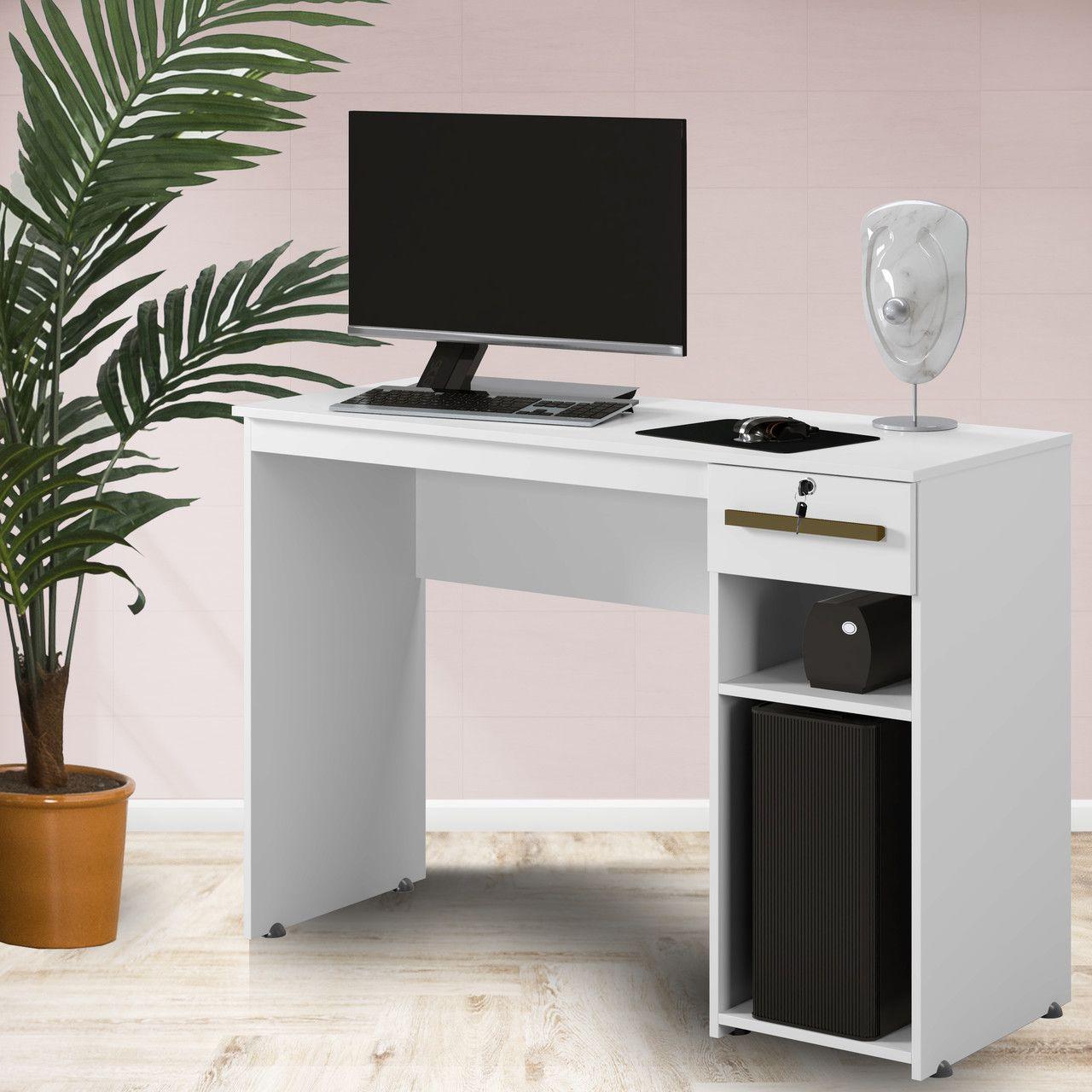 Mesa Escrivaninha Office Veneza Branco