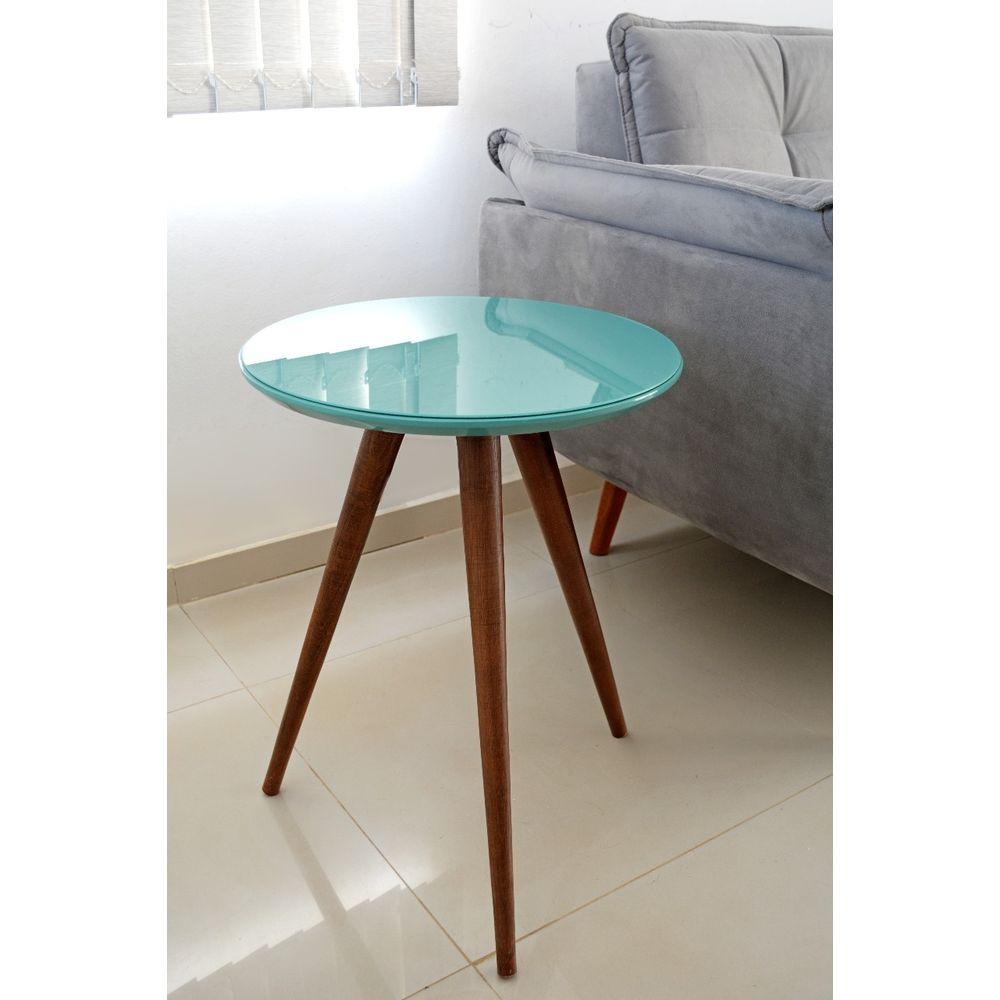 Mesa Lateral de Canto Pé Palito Tiffany 45 cm