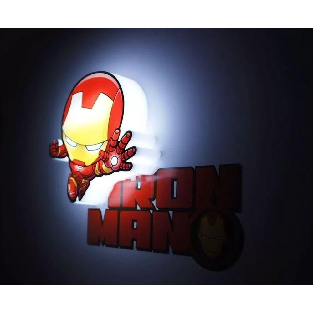 Mini Luminária 3D Marvel Homem de Ferro