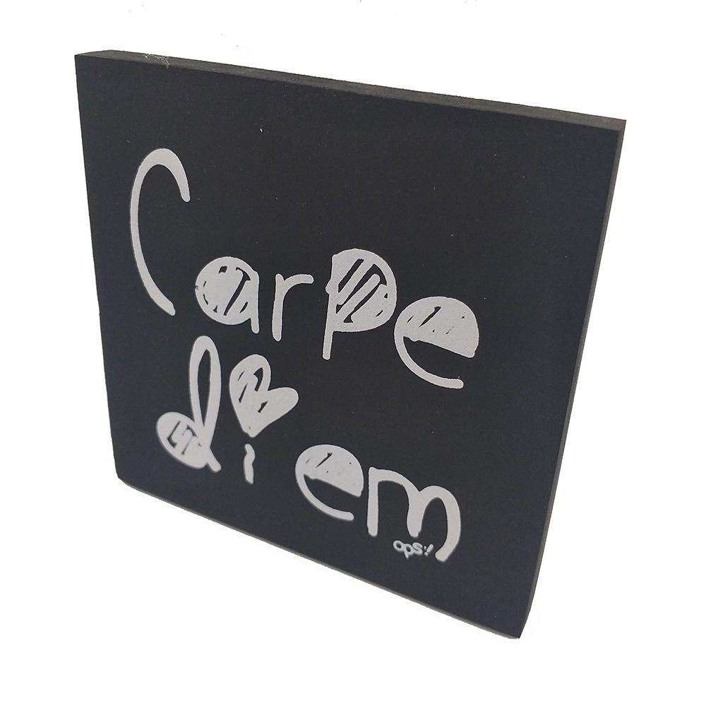 Mini Quadro Decorativo Carpe Diem 12x12 cm