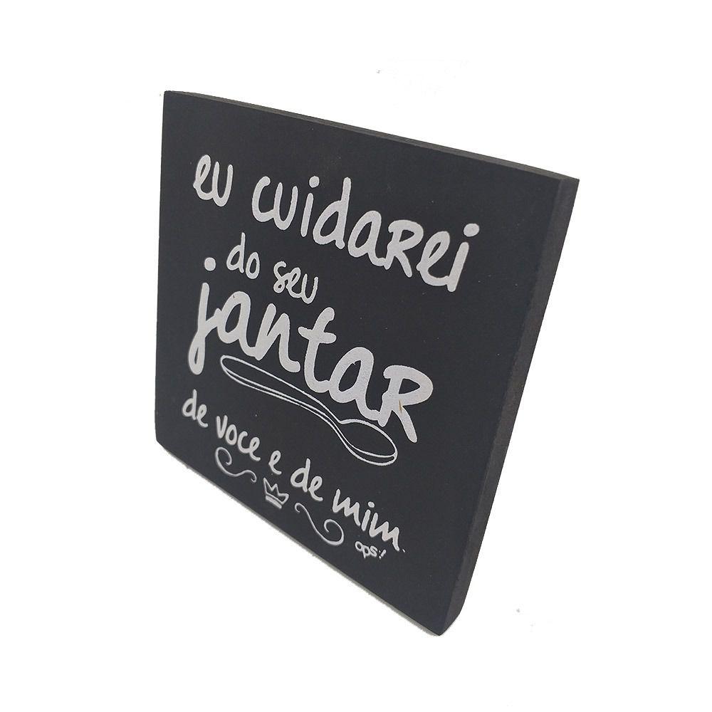 Mini Quadro Decorativo Eu Cuidarei 12x12 cm