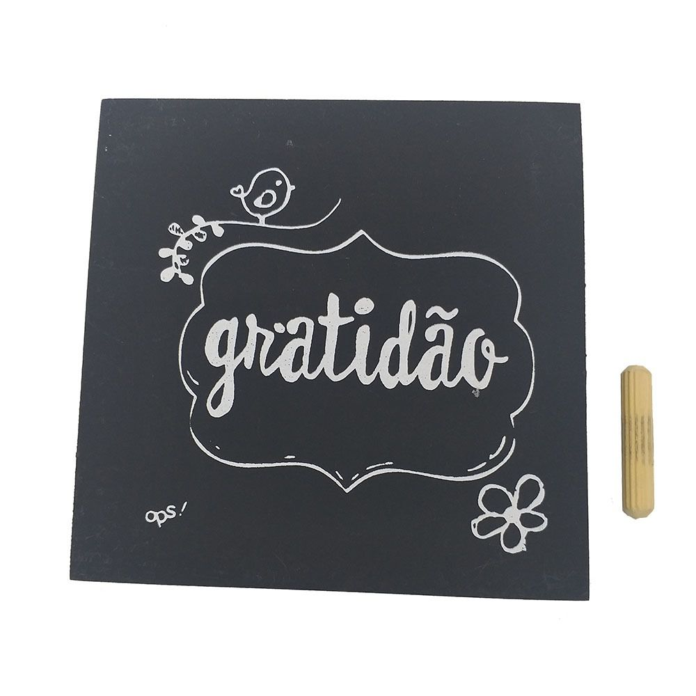 Mini Quadro Decorativo Gratidão 12x12 cm