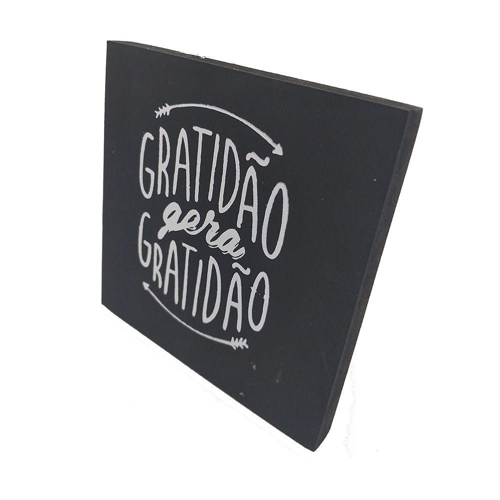 Mini Quadro Decorativo Gratidão Gera Gratidão 12x12 cm