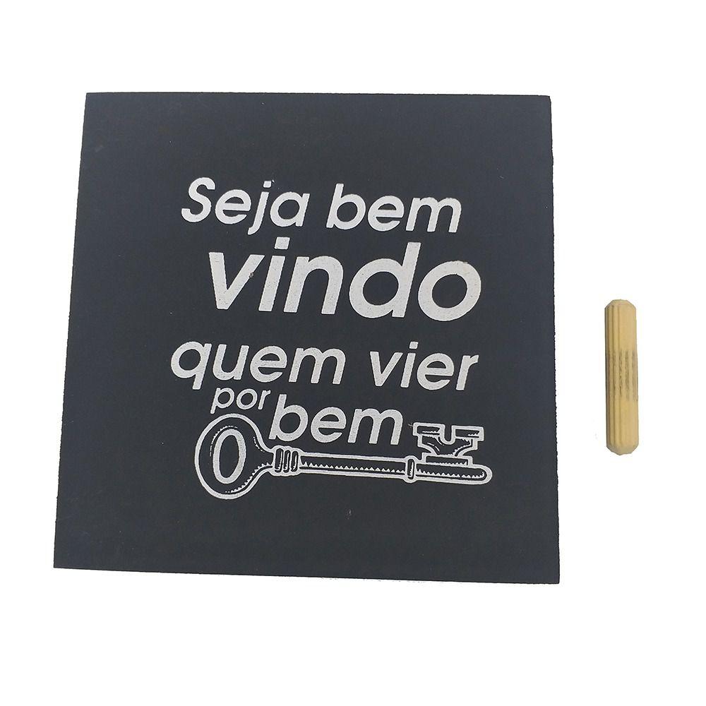 Mini Quadro Decorativo Seja Bem Vindo 12x12 cm