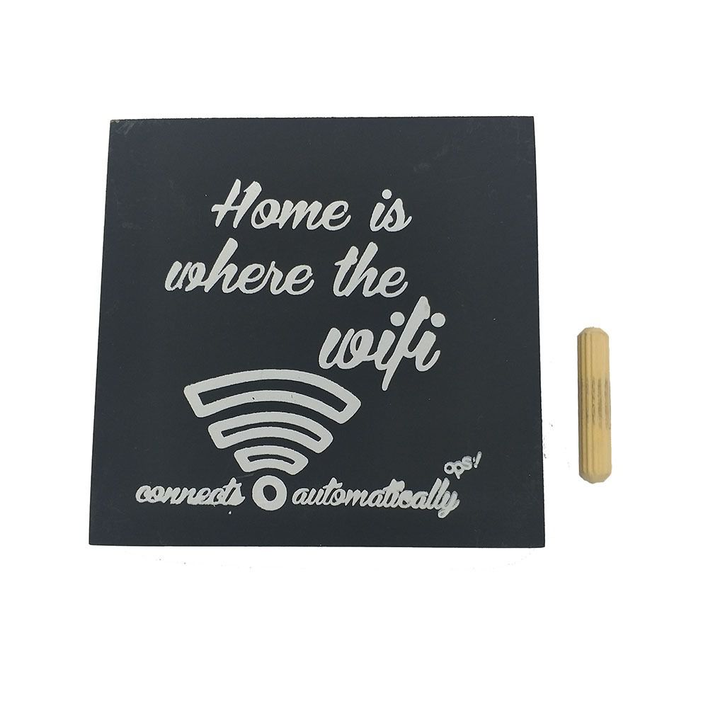 Mini Quadro Decorativo Wifi 12x12 cm