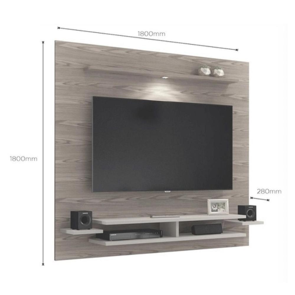 Painel para Tv até 65 Polegadas Mavaular New Mel/Off White