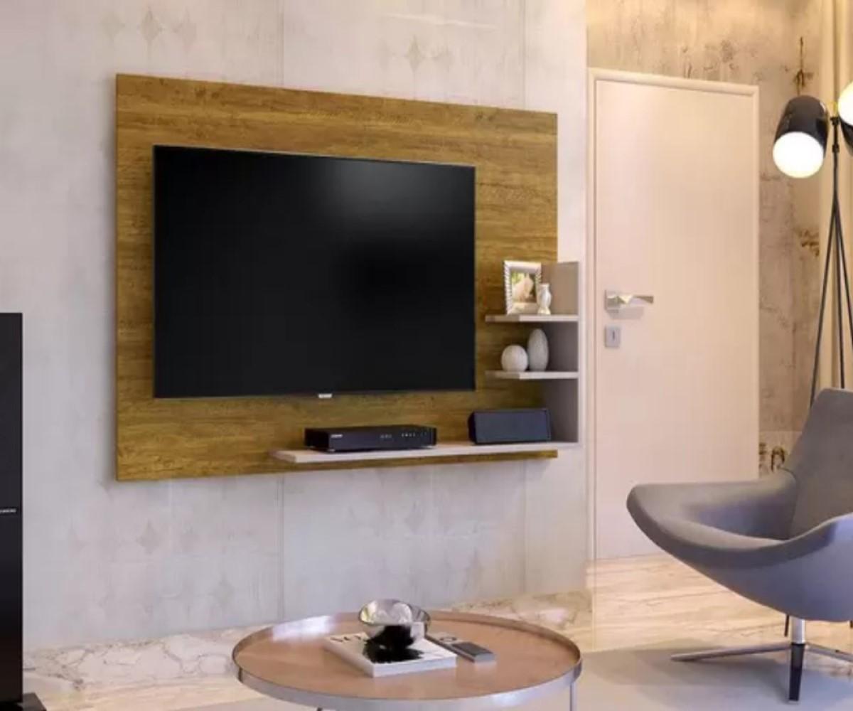 Painel para TV até 40 Polegadas Exclusive Mavaular Mel/Off White