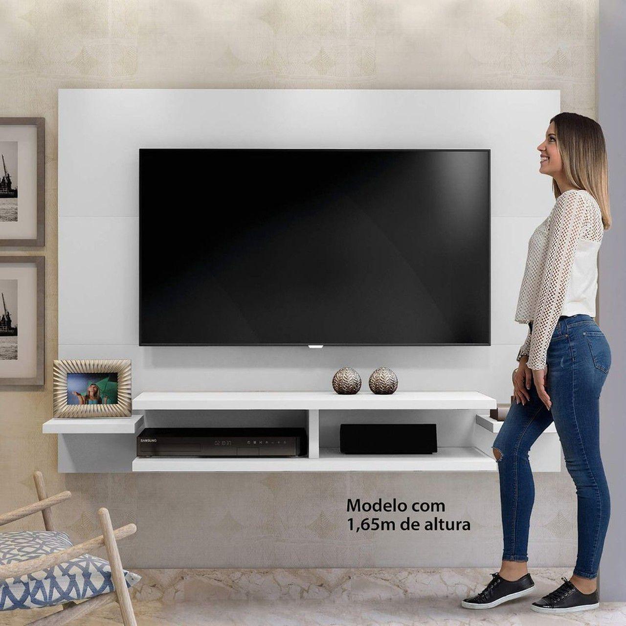 Painel para TV até 55 Polegadas Vitória Mavaular Branco