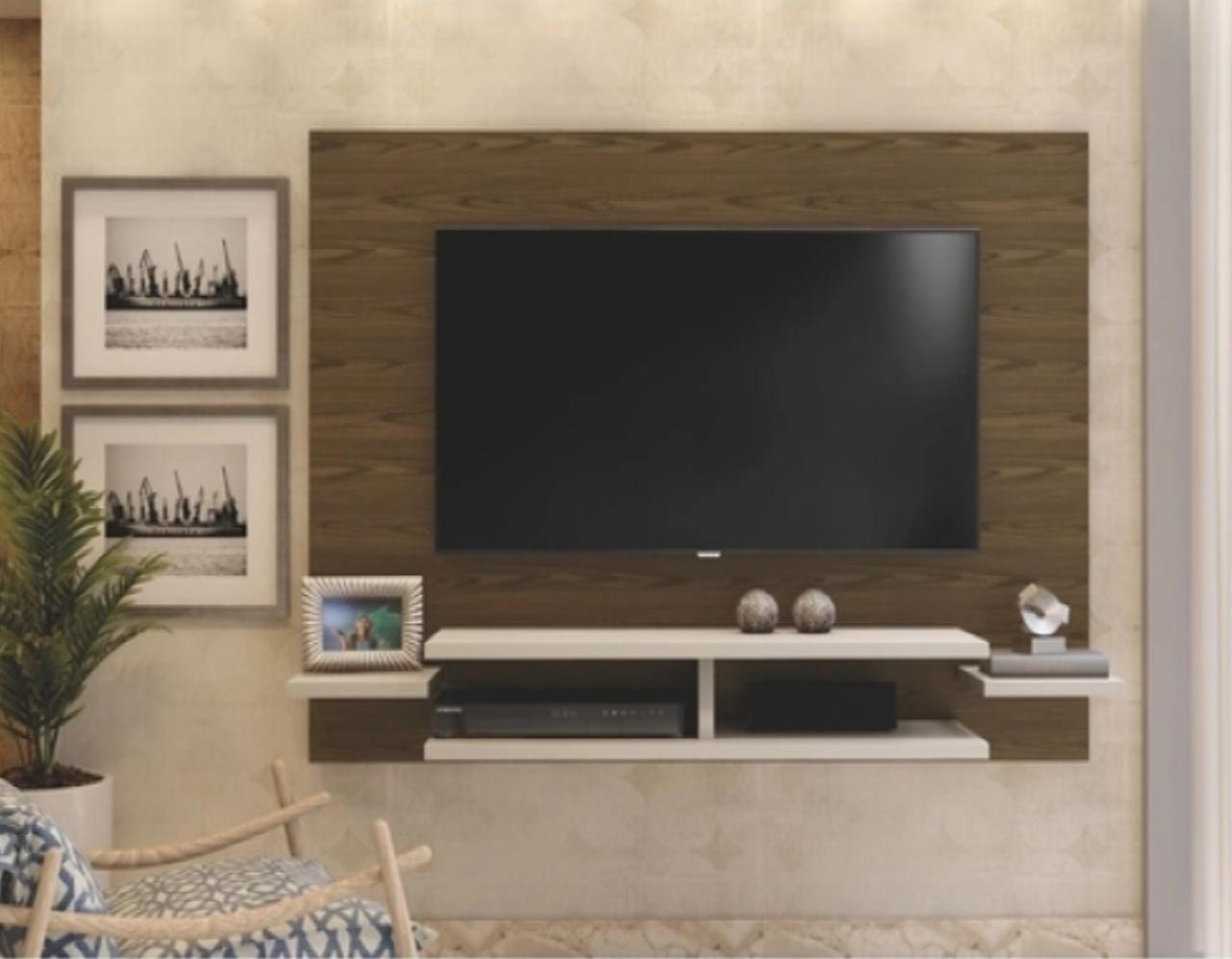 Painel para TV até 55 Polegadas Vitória Mavaular Canion Soft/Off White
