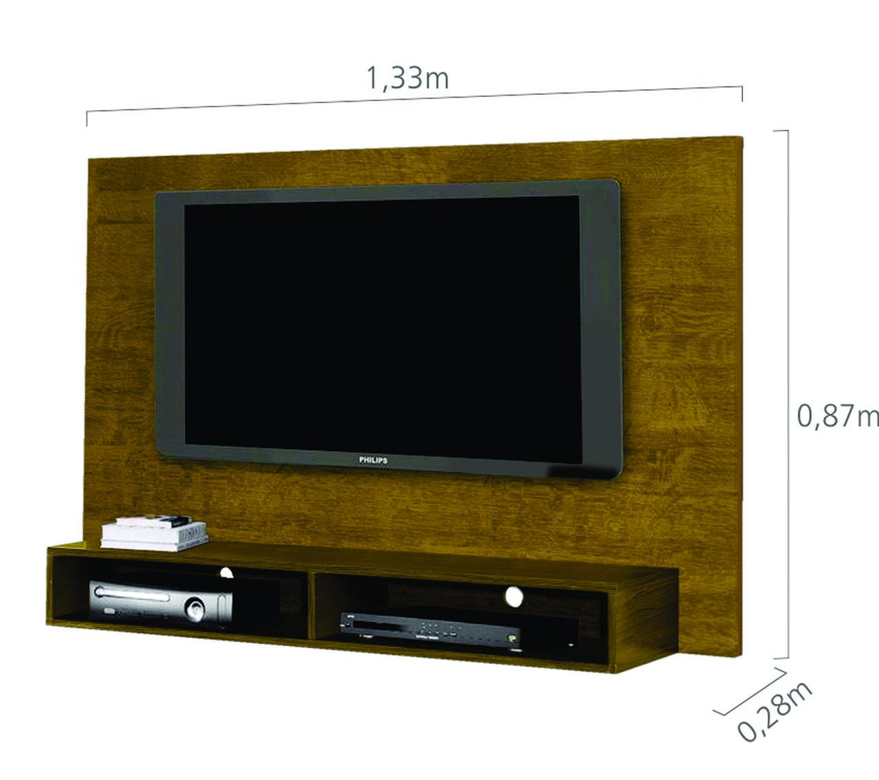 Painel para TV Coral Kaiki Móveis até 46 Polegadas Rovere