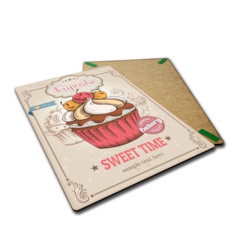 Placa Decorativa Cupcake