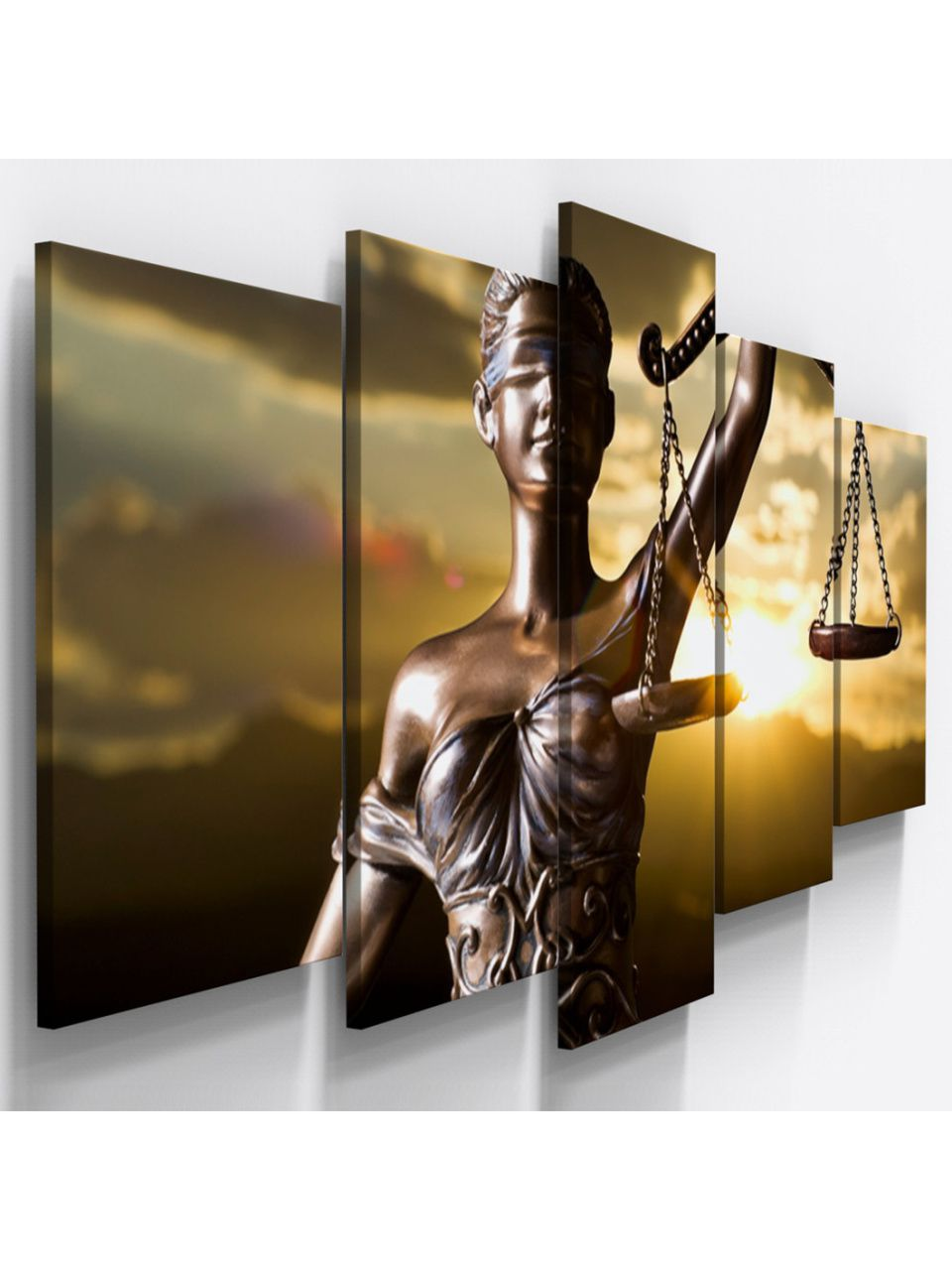 Quadro Decorativo Deusa Justiça Direito Advocacia 60 x 125 cm