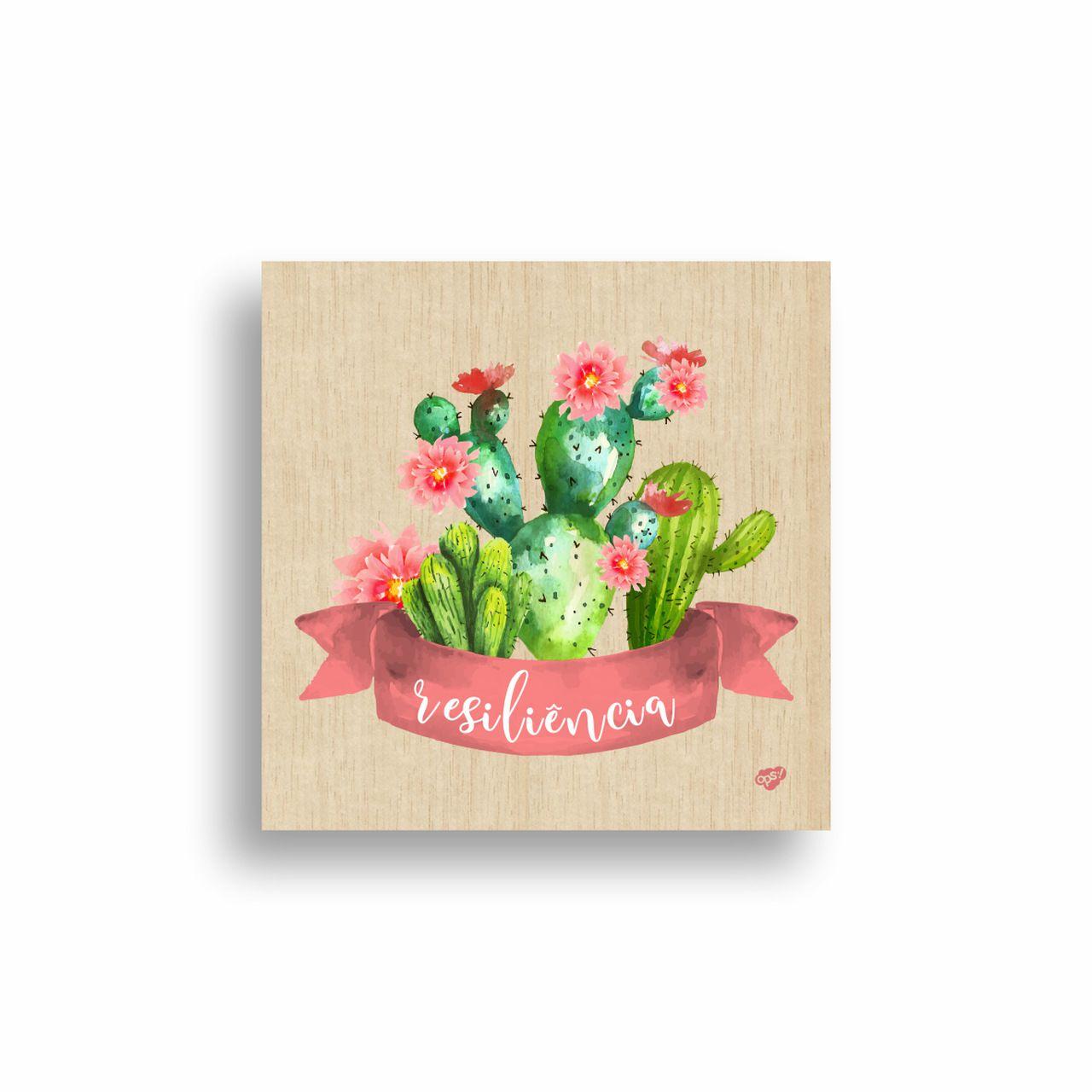 Quadro Decorativo Floral Resiliência 20x20 cm