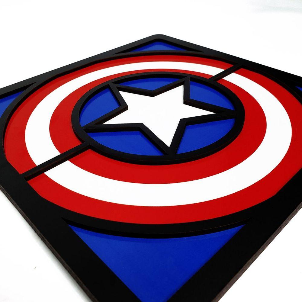 Quadro Decorativo Herói Capitão América