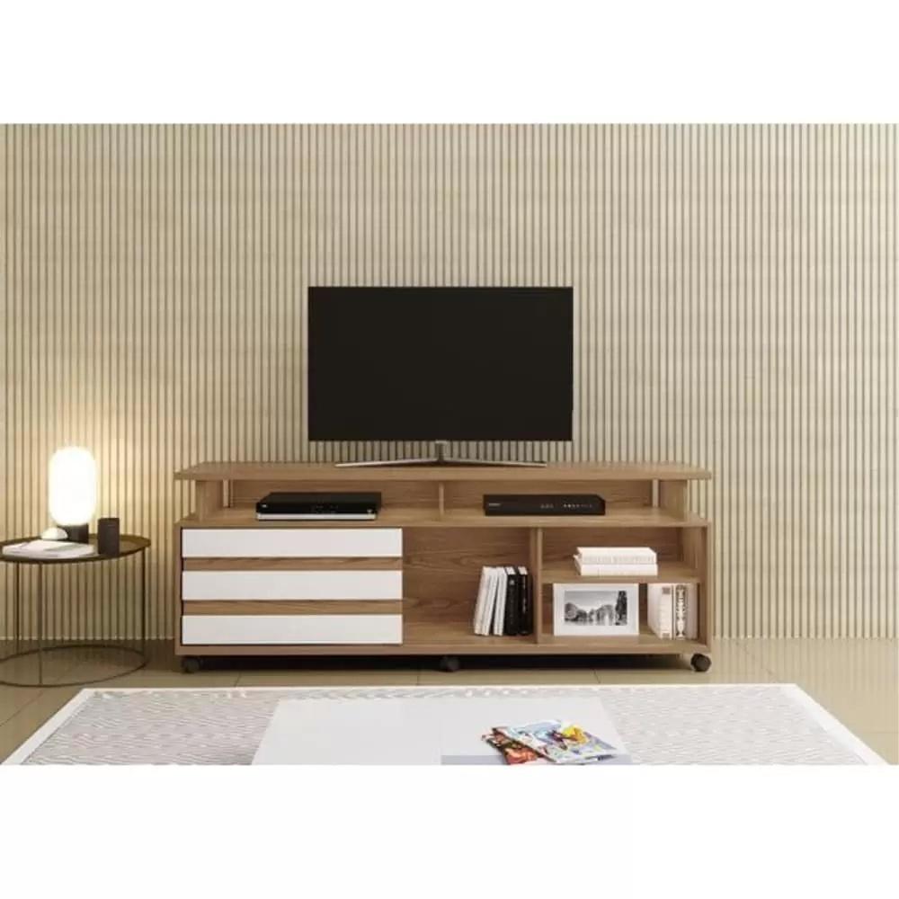 Rack para TV até 42 Polegadas Triunfo Mavaular Damasco Soft/Off White