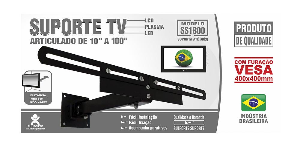 Suporte para TV Articulado 10 a 100 polegadas