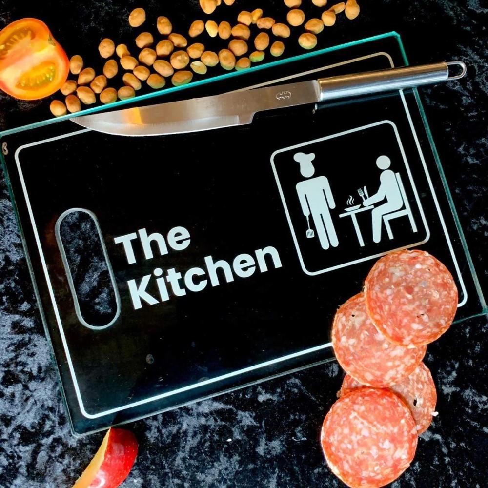 Tábua de Corte de Vidro The Kitchen 35x25 cm