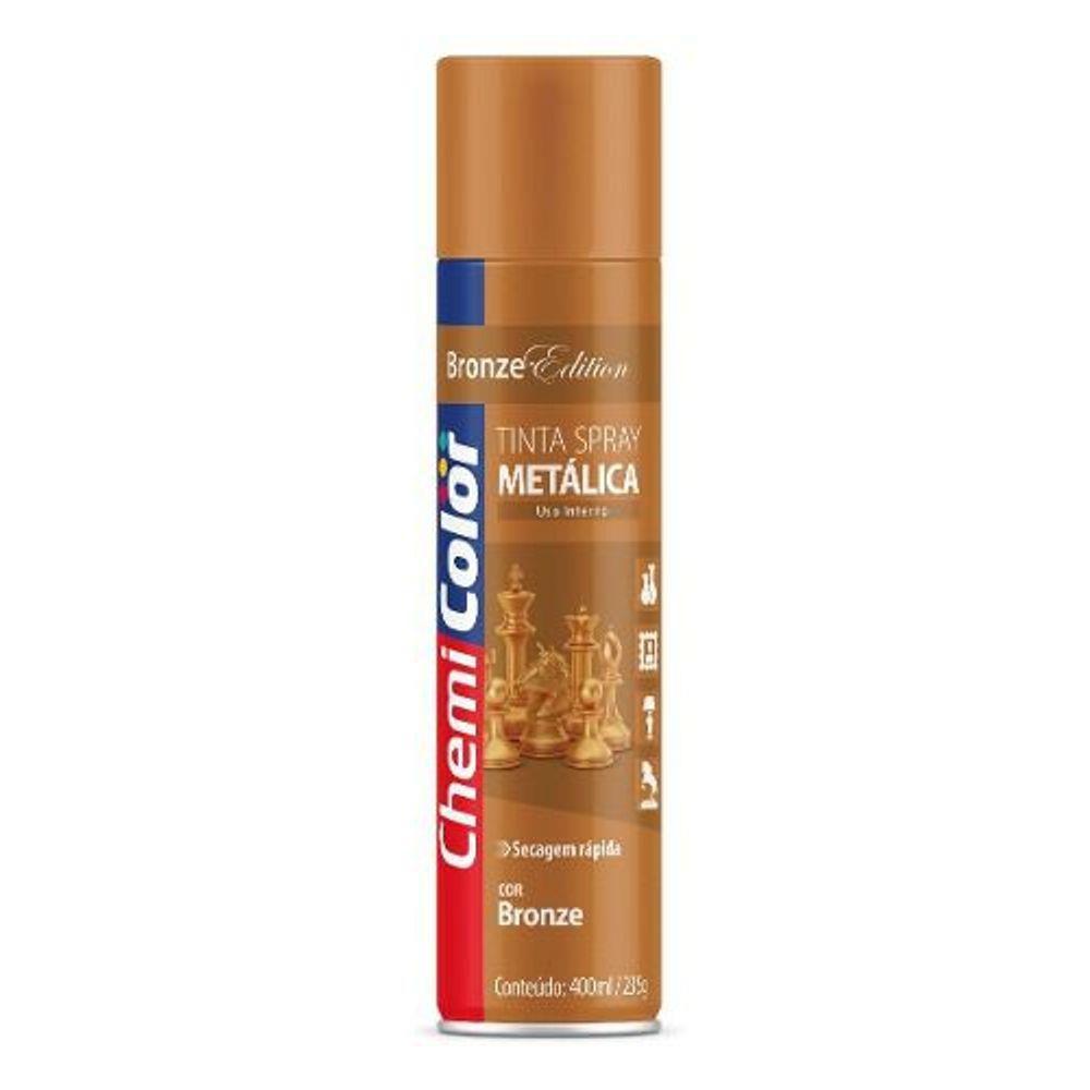 Tinta Spray Metálica Bronze 400ml Chemicolor