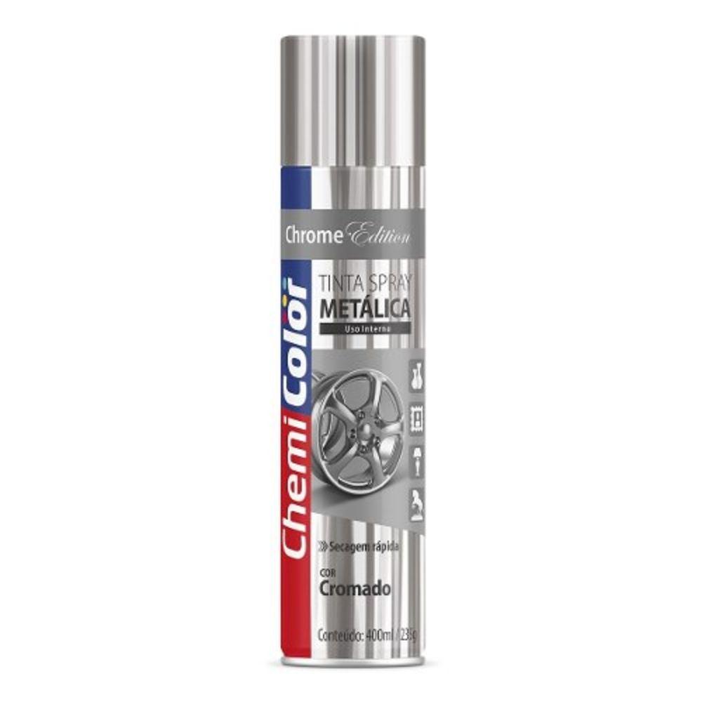 Tinta Spray Metálica Cromado 400ml Chemicolor