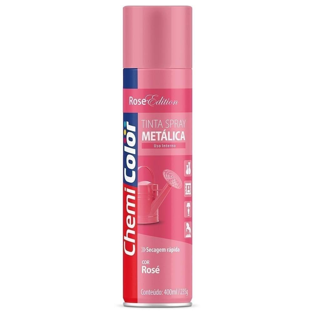 Tinta Spray Metálica Rosé 400ml Chemicolor