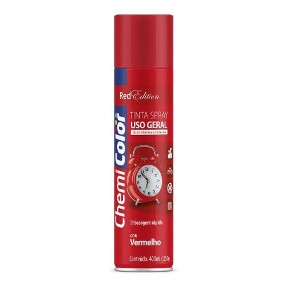 Tinta Spray Uso Geral Vermelho 400ml Chemicolor