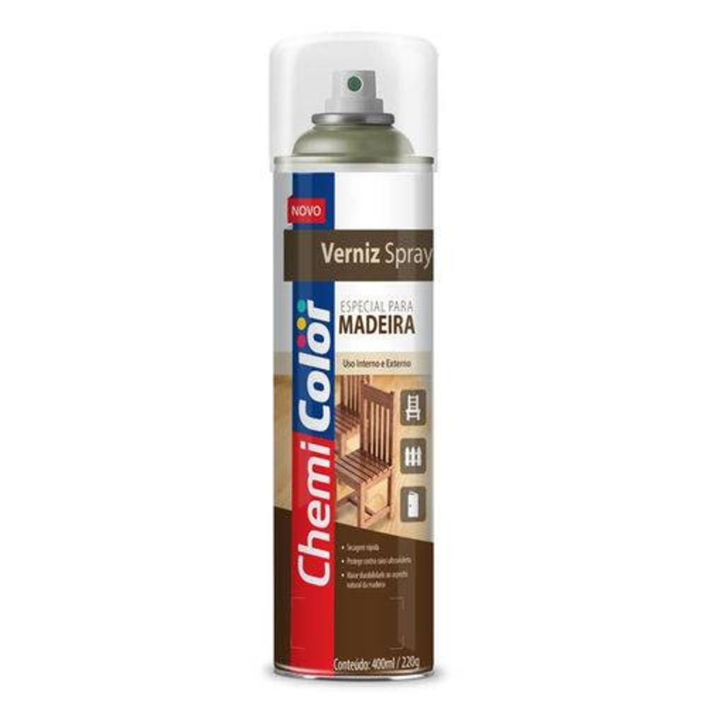 Verniz Spray para Madeira Mogno 400ml Chemicolor