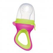 Alimentador Porta Frutinha Baby Verde e Rosa - Buba 09743