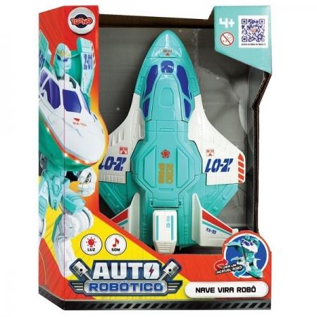 Avião Vira Robô a Pilha -Toyng 43801