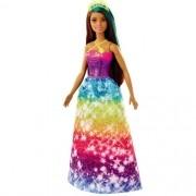 Barbie Dreamtopia Princesa Morena Vestido Estrelas Mattel GJK12
