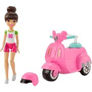 Barbie On The Go Moto Rosa E Boneca FHV88/FHV80 Mattel