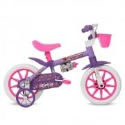 Bicicleta Belíssima Status Free Action Aro 12 Feminina Violeta