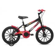 Bicicleta Free Action Aro 16 Joy Preto Brilhante Status Bike