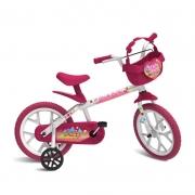 Bicicleta Infantil Rosa Aro 14 Sweet Game - Bandeirante