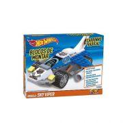 Blocos De Montar Carrinho Hot Wheels Radical Sky Viper 81101 Fun